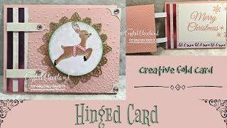 HINGED CARD/Maymaymadeit Design Team/fun fold card/creative fold card/fancy fold card