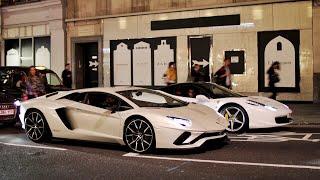 【ロンドン】スーパーカー加速サウンド/Supercars sound in London. AventadorS F12TDF 720s 488