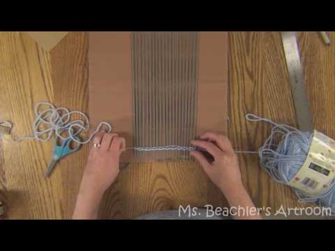 Fiber Art  Weaving Part 1