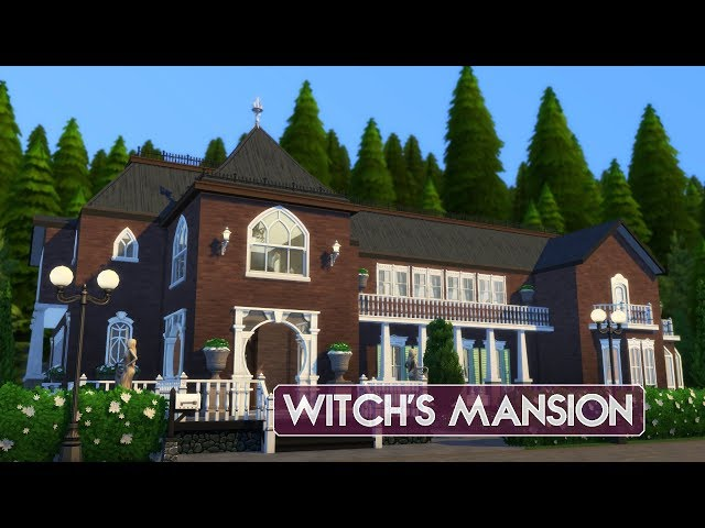 Sims 4   House Building   Witch's Mansion