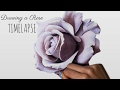 Speed Drawing: A Purple Rose