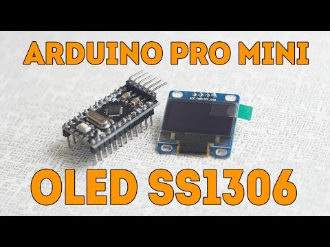 Arduino Pro Mini OLED SS1306 Display. Tutorial. How To Connect.