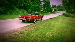 ride along in a 1968 ford mustang convertible