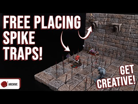 Free Placeable D&D Spike Traps! Use Anywhere…