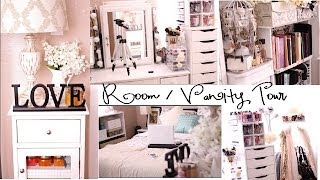 Room Tour And Vanity Organization!