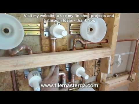 """(PART 3) MOEN TS276 Custom SPA shower system installation, sprayers, hand held 3/4"""" valve S3371"""