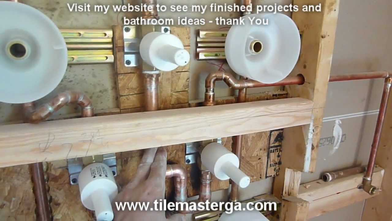 PART 3) MOEN TS276 Custom SPA shower system installation, sprayers ...