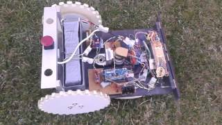 DIY robot lawn mower without cover