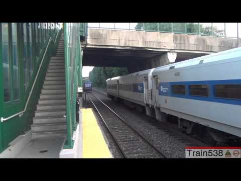 [HD] Hudson River Trains at Highland and Poughkeepsie - 8/2/2012