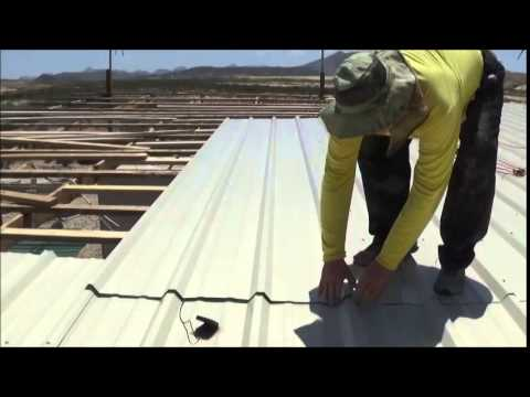 Installing Metal Roofing Panels Youtube