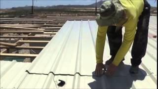 Installing Metal Roofing Panels!