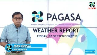 Public Weather Forecast Issued at 4:00 AM September 7, 2018