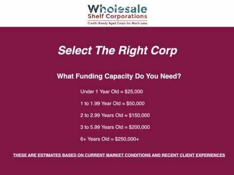 WSC   Corporate Credit & Financing Crash Course