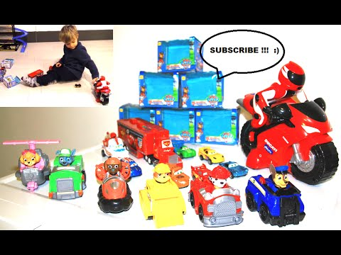 kid plays with paw patrol and chicco ducati 1198 rc unboxing
