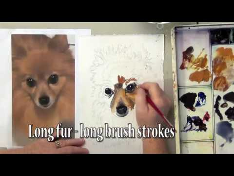 How To Paint Fur With Watercolor