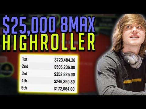 Playing A $25,000 Tournament Online - REAL MONEY