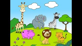 Учим животных и их голоса.  Дом.  Ферма.  Джунгли.