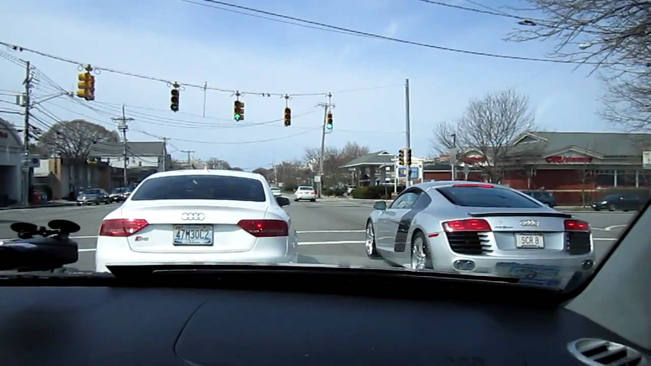 Supercharged R8 Audi S5 Turbo 0-60mph on street - YouTube