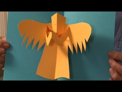 Pop-Up Tutorial 38 - Angel - Christmas Card