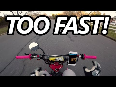 Street Legal Honda Crf50 TOP SPEED