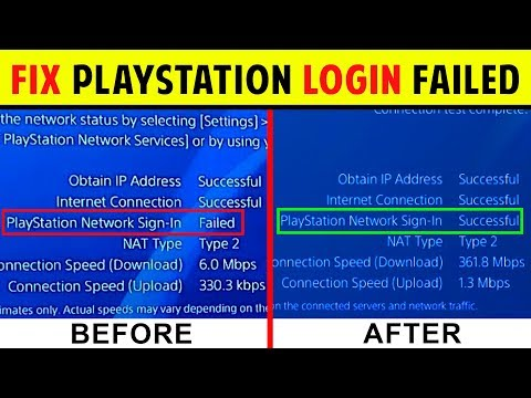 5 *EASY WAYS* TO FIX PSN LOGIN FAILED | CANNOT CONNECT TO PLAYSTATION SERVERS