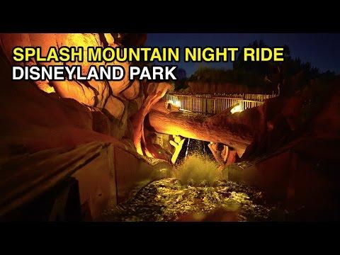 [4K] Splash Mountain - Nighttime Soak : Disneyland Park (Anaheim, CA)