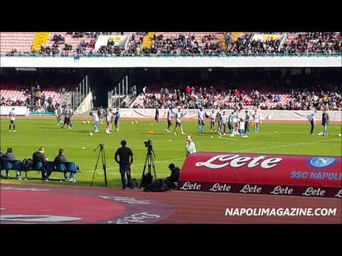 VIDEO NAPOLIMAGAZINE.COM - Napoli, l'allenamento del 2 gennaio al San Paolo