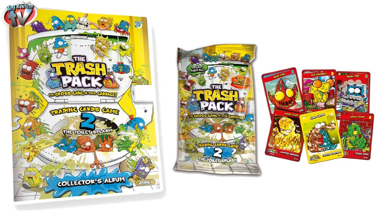 The Trash Pack Trading Cards Series 2 The Toilet Splash Review