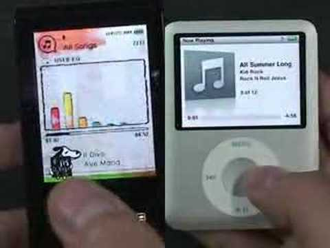 samsung yp t10. new ipod nano vs samsung yp-t10 : video comparison yp t10 1