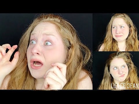 1 GIRL, 50 FACIAL EXPRESSIONS IN 3 MINUTES ART/ACTING REFERENCE   LILLEE JEAN