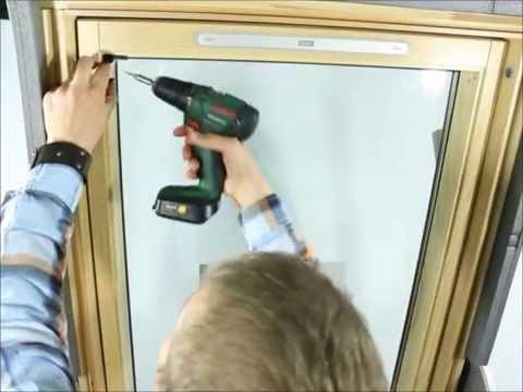 Velux istruzione di montaggio tenda a rullo per finestra for Montaggio velux