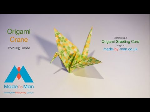 Origami Crane Folding Instructions Guide By Made By Man Youtube