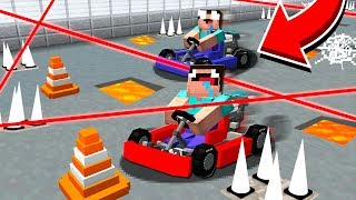 CRAZY MARIO KART MINECRAFT RACE WITH TRAPS!