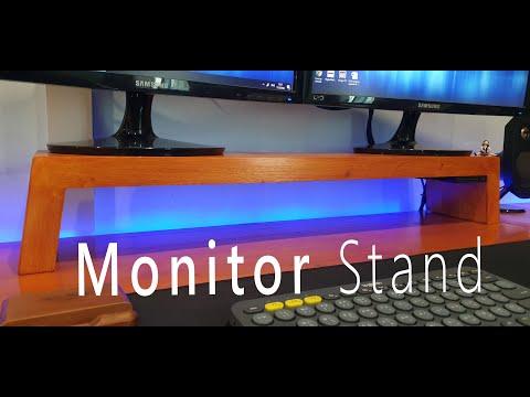 Diy ที่วางจอคอมพิวเตอร์จากไม้เหลือใช้ - Diy Wooden Monitor Stand