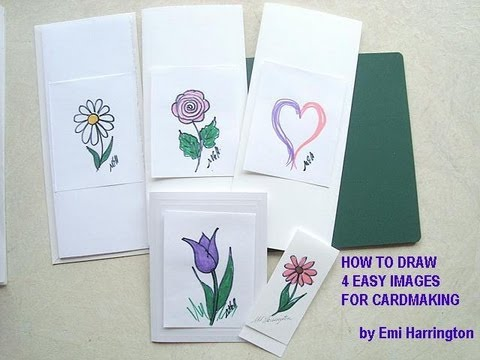CARDMAKING, drawing 101, 4 easy designs to draw.