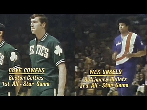 Dave Cowens, Wes Unseld 16pts/27reb/2a/6blks (1972 NBA ASG Full Highlights)