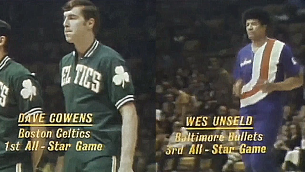 Dave Cowens Wes Unseld 16pts 27reb 2a 6blks 1972 NBA ASG Full