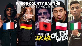 DRILL MUSIC IN DIFFERENT COUNTRIES (ALBANIA 🇦🇱, POLAND 🇵🇱, FRANCE🇫🇷, GERMANY🇩🇪, ITALY 🇮🇹)