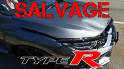 The First SALVAGE Civic TYPE R & How Much it would COST to REBUILD (Honda)