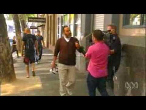 Channel Nine Australia Camera-man calls Australian Muslim a Terrorist - April 2010