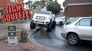 can-my-giant-truck-fit-in-a-drive-through
