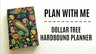 Gambar cover PLAN WITH ME | Dollar Tree Hardbound Planner | Minimal Stickers