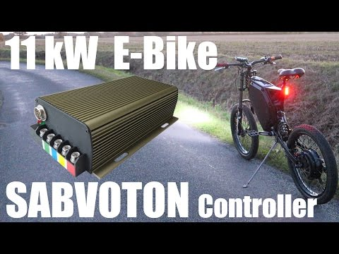 Ebike with 11kW+ | NEW Sabvoton Speed Controller