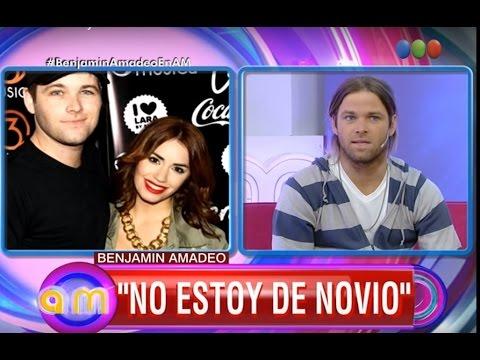 """Benjamín Amadeo: """"No estoy de novio"""" - AM"""