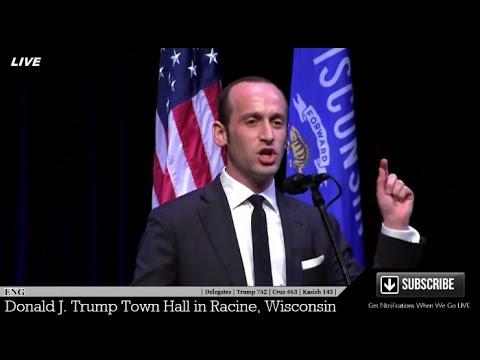 Stephen Miller Amazing Speech Racine Wisconsin Senior Policy Adviser for Donald Trump ✔