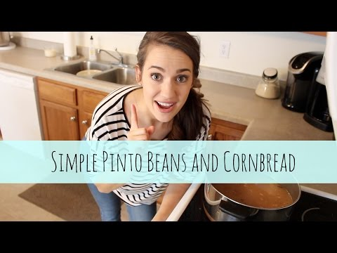 SIMPLE Beans And Cornbread Recipe + BLOOPERS
