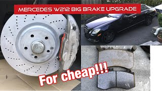 Front Drilled Slotted Brake Rotors /& Ceramic Pads For Mercedes Benz E350 E550