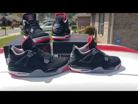 fbd57778849 Its Already 3 Versions Of 2019 Nike Air Jordan 4 Bred!! Lets Compare Da  Best 2👀👀 - YouTube