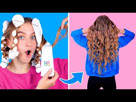 12 лайфхаков для волос / Простые прически за 5 минут!