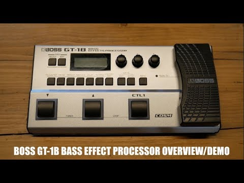 boss gt 1b bass effects processor quick overview demo. Black Bedroom Furniture Sets. Home Design Ideas